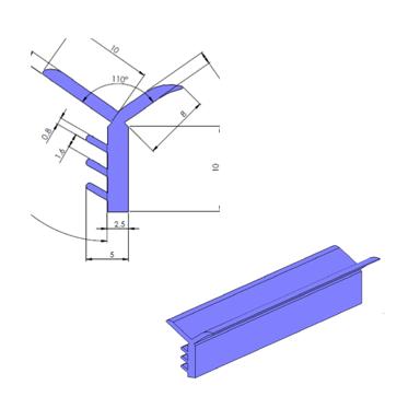 Anschlussprofil 3D