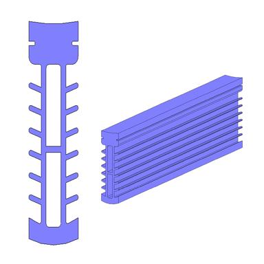 Dehnfugenprofil Fläche 3D